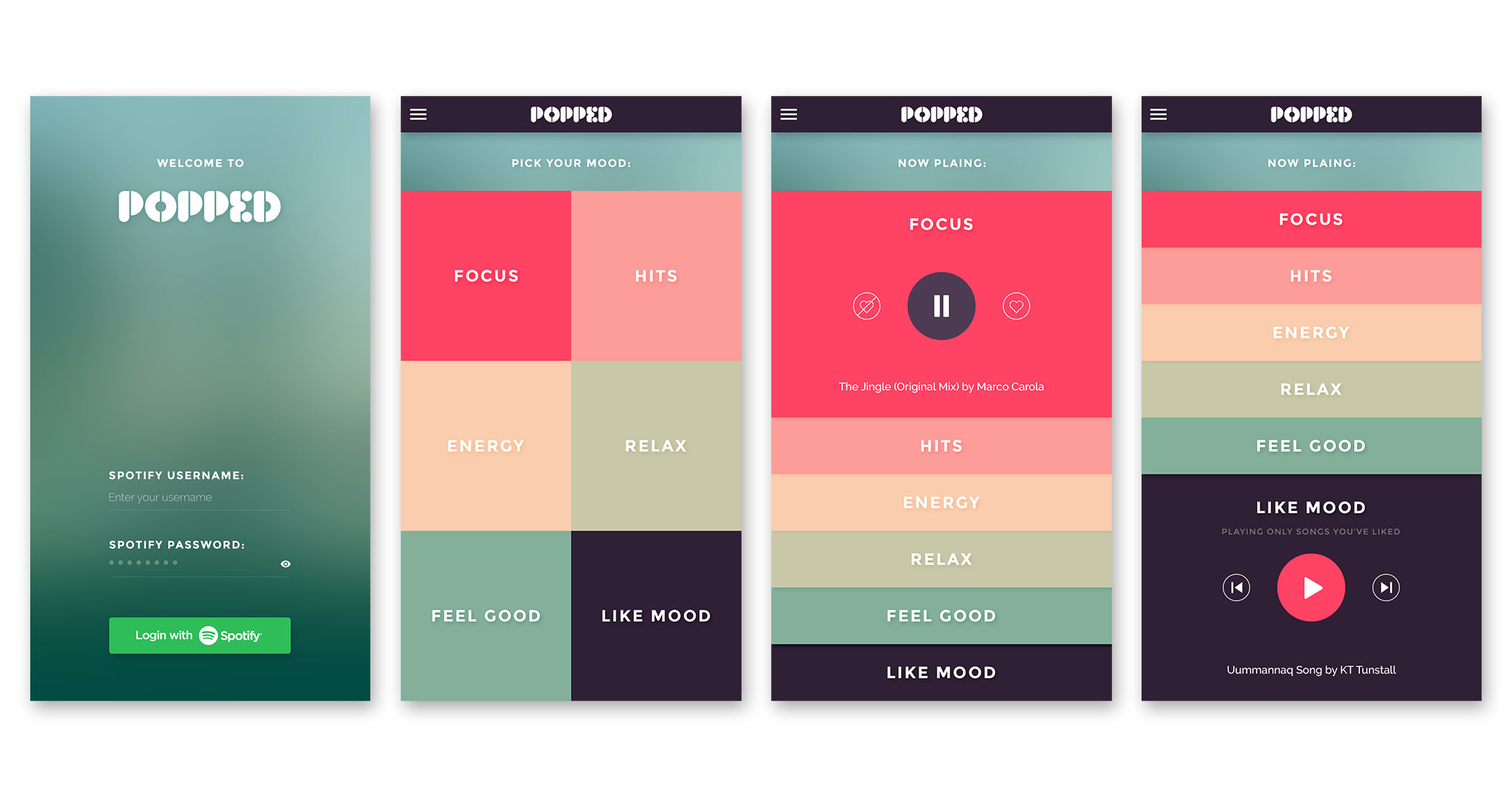 Popped iphone music app ui designed by andrei frincu Architecture designing app
